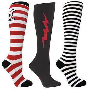 Sock It To Me Women's 3-Pack Pirate Knee High Socks