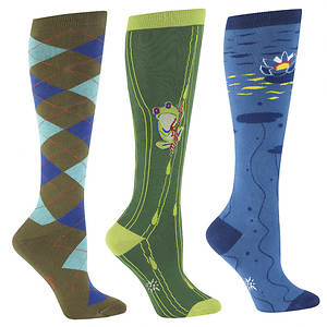 Sock It To Me Women's 3-Pack The Pond Knee High Socks