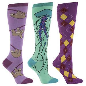 Sock It To Me Women's 3-pack Wildlife knee High Socks