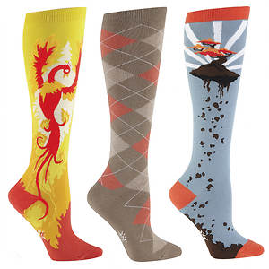 Sock It To Me Women's 3-Pack Zen Knee High Socks