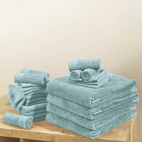24-Piece Everyday Ringspun Cotton Towel Set