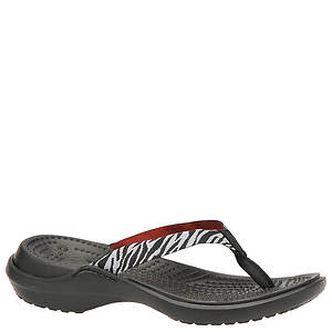 Crocs™ Capri Zebra Graphic Flip  (Women's)