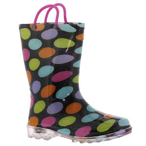 Western Chief Lighted Multi Dotty (Girls' Toddler-Youth)