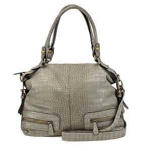Croco-Print Shoulder Bag