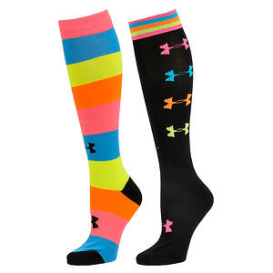 Under Armour Recur Over the Calf 2 Pk Socks (women's)