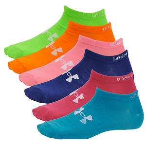 Under Armour Brights No Show 6-PK Socks (women's)