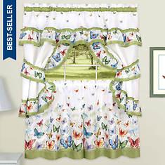 Printed Cottage Window Set
