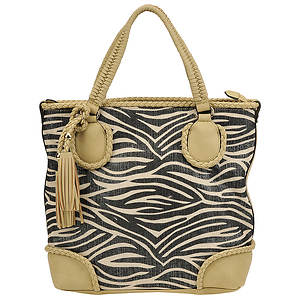 SR Squared by Sondra Roberts Canvas Zebra Tote Bag