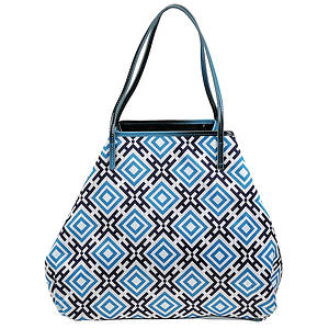 SR Squared by Sondra Roberts Geometric Reversible Tote Bag