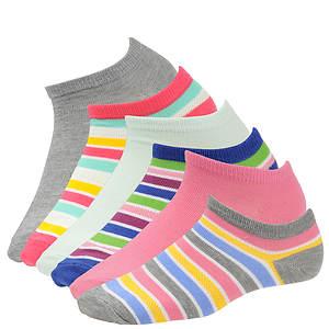 Steve Madden Women's SM26951A 6-Pack Stripes Low Cut Socks