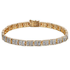 "Diamond 7.5"" Highlight Tennis Bracelet"