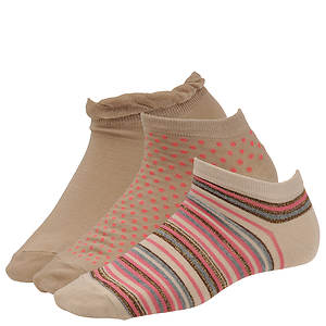 Chinese Laundry Women's 4312 3-Pack Lowcut Socks
