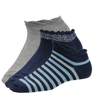 Chinese Laundry Women's 4324 3-Pack Lowcut Socks