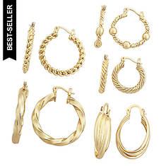 5 Pair Hoop Earrings