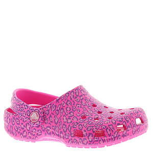 Crocs™ Classic Leopard Print Clog (Girls' Infant-Toddler-Youth)