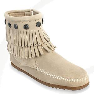 Minnetonka Double Fringe Side Zip Boot (Women's)