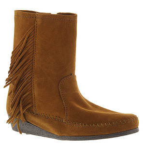 Minnetonka Side Fringe Wedge Boot (Women's)