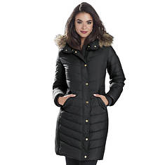 Faux Fur-Trimmed Quilted Jacket