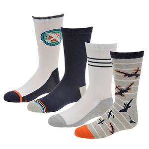 Stride Rite Boys' 4-Pack Isaac Crew Socks
