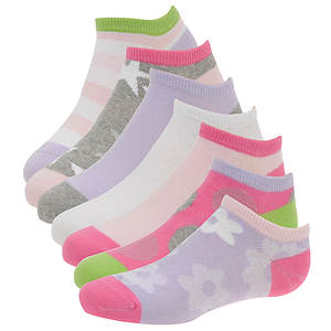 Stride Rite Girls' 7-Pack Savannah No Show Socks