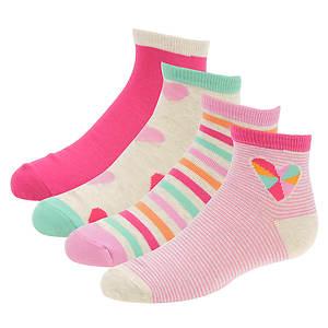 Stride Rite Girls' 4-Pack Tracey Quarter Socks