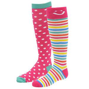 Stride Rite Girls' 2-Pack Wink Knee High Socks