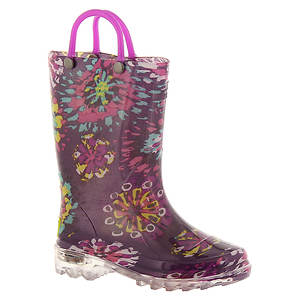 Western Chief Abstract Blooms Lighted Boot (Girls' Toddler-Youth)