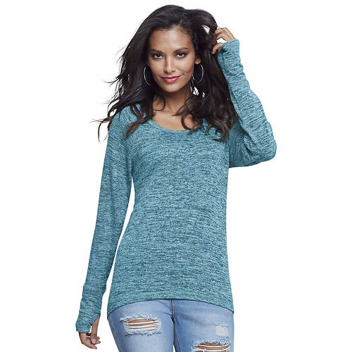 Marled Thumbhole Sweater