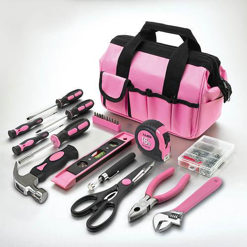 114-Piece Project & Repair Tool Set - Pink