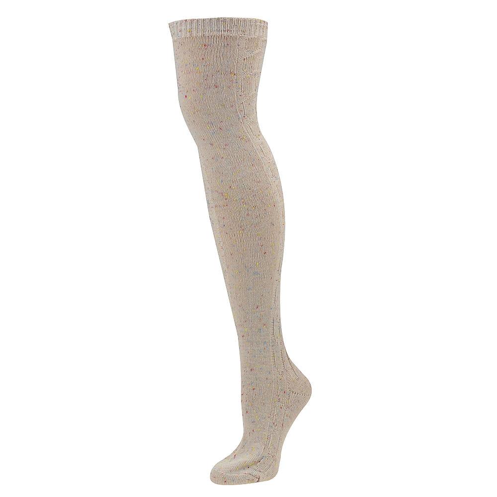 Steve Madden Women's SM28400-Asst 1 PK Cable Over The Knee Socks
