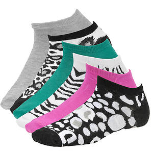 Steve Madden Women's SM28463 6-Pack Patterned Low Cut Socks