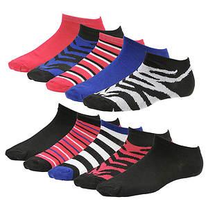 Steve Madden Women's  SM28472 10-Pack Patterned Low Cut Socks