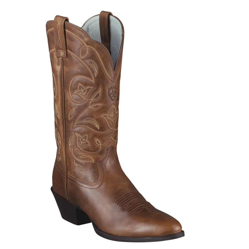 1950s Style Mens Shoes Ariat Heritage Western R-Toe Womens $149.95 AT vintagedancer.com
