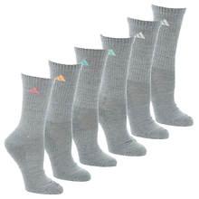 adidas Athletic 6-Pack Crew Socks (women's)