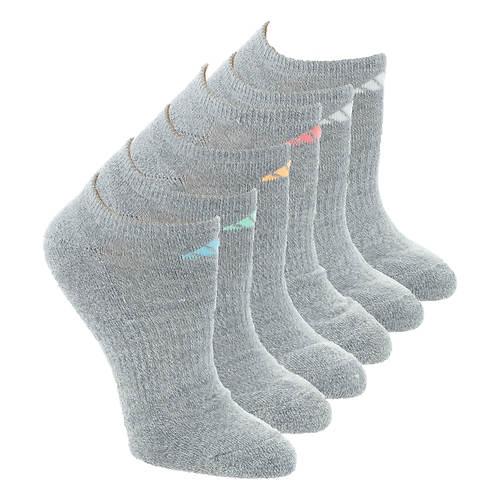 adidas Women's Athletic 6-Pack No Show Socks