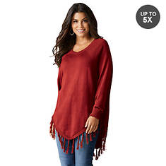 Tasseled Poncho Sweater