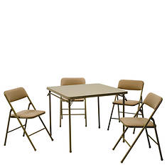 """Cosco 34"""" Card Table & Padded 4 Chair Set"""