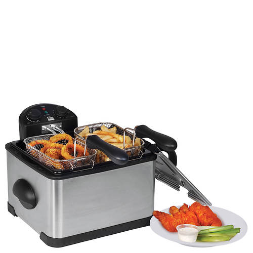 Elite 4-Qt. Dual-Basket Deep Fryer