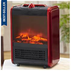 Comfort Zone Mini Fireplace Ceramic Heater