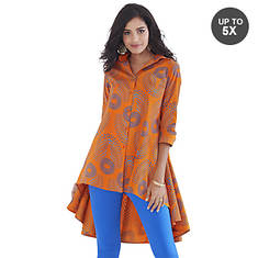 Button-Front Big Shirt