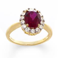 Gemstone Lady Di Ring