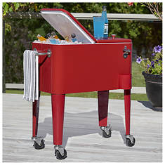 Rolling 60-qt. Patio Cooler Cart