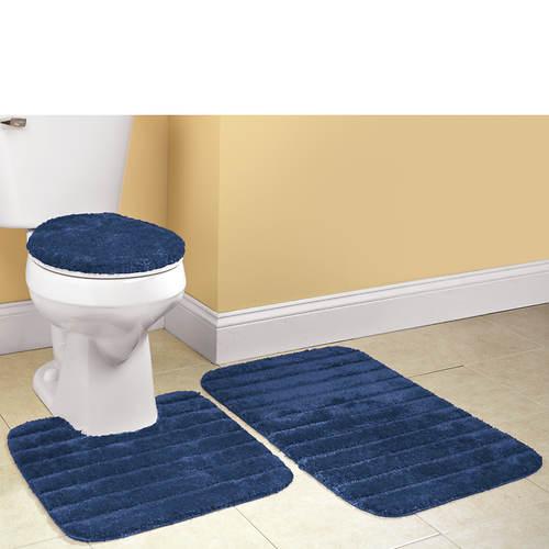 Ultra-Soft 3-Piece Bath Rug Set