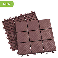 Interlocking 12-Piece Set Patio Pavers