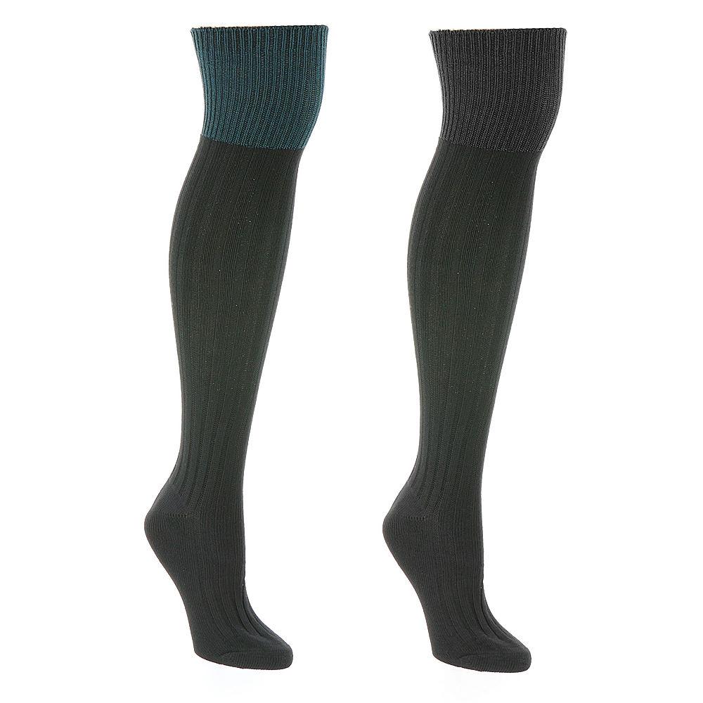 Steve Madden SM26727C 2-Pack Over The Knee Socks
