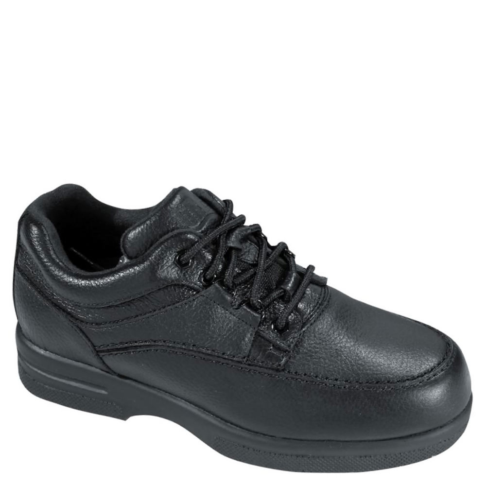 *The Traveler is a rugged yet comfortable shoe that combines casual styling with a host of foot health benefits *Leather upper with lace-up closure for secure fit *Soft foam-padded tongue and collar *Drilex® lining with AEGIS Microbe Shield™ for odor and stain control *Plus Fitting System® - two removable footbeds for added and double depth *Dual-density insert *Extended medial heel stabilizer *Tempered steel shank *Accommodates prescribed orthotics *Flared