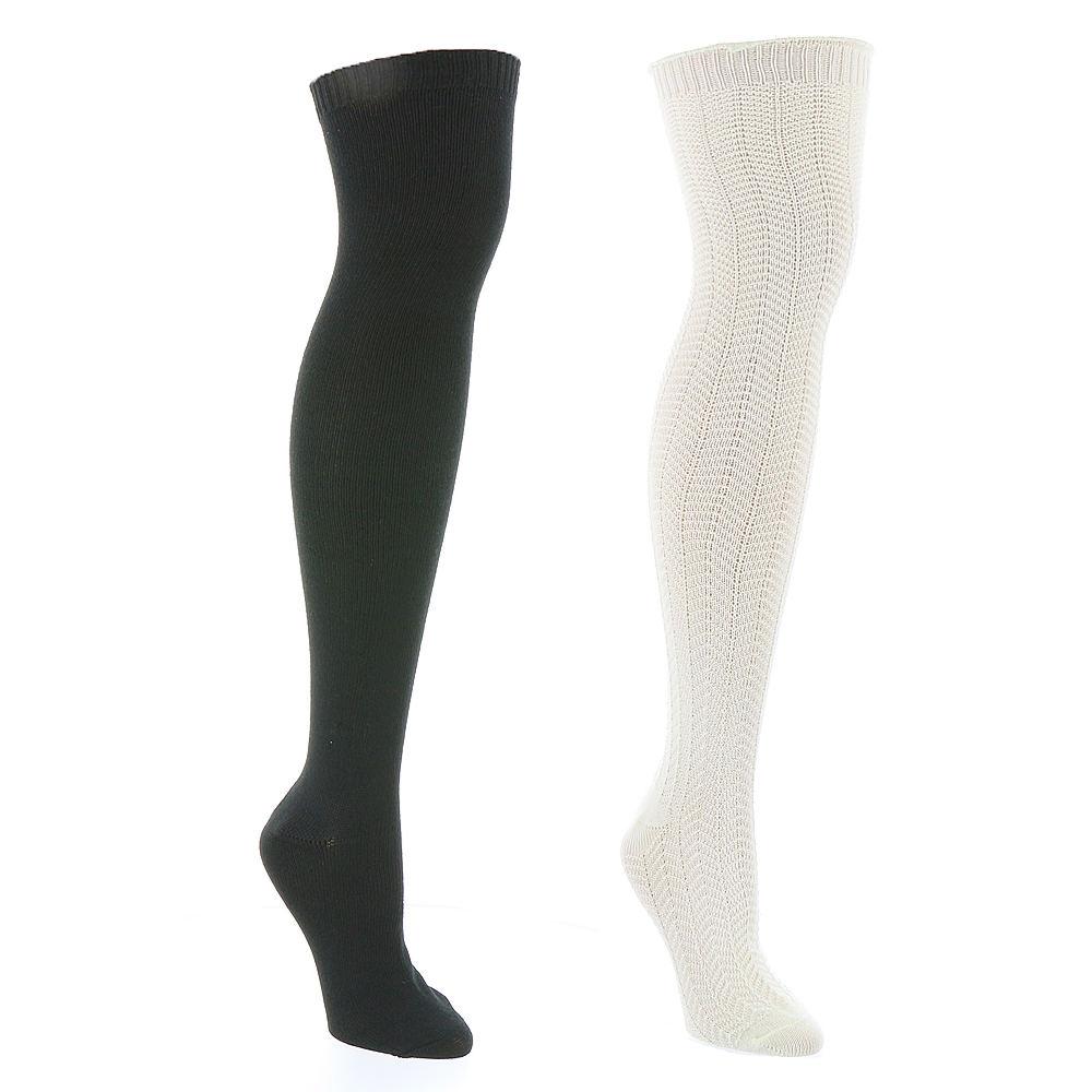 Steve Madden SM31380 2-Pack Over the Knee Socks