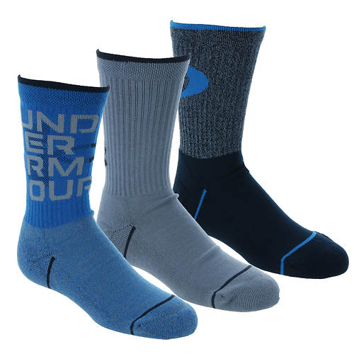 Under Armour Boys' 3-Pack Phenom Crew Socks