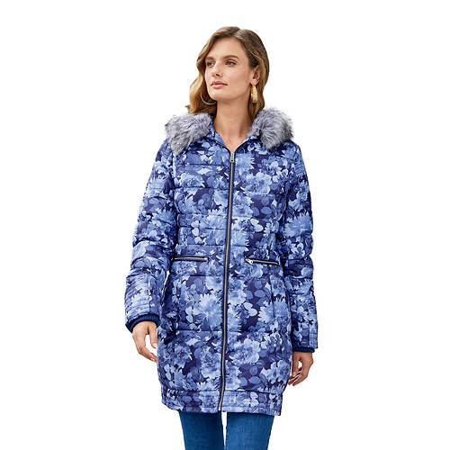 Patchwork Puffer Coat