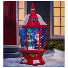 6' Santa Lantern Inflatable